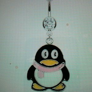 Peguin belly ring